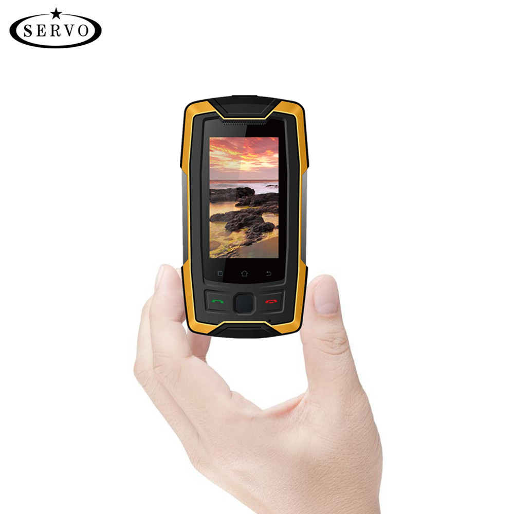 SERVO X7 Plus 2.45 MTK6737 mini Smartphone 4g IP68 Étanche RAM 2 gb ROM 16 gb Empreintes Digitales NFC GPS Mobile Téléphone Talkie