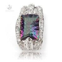 Romantic Rainbow Stone Mystic Topaz Fashion 925 Silver Pendants R705