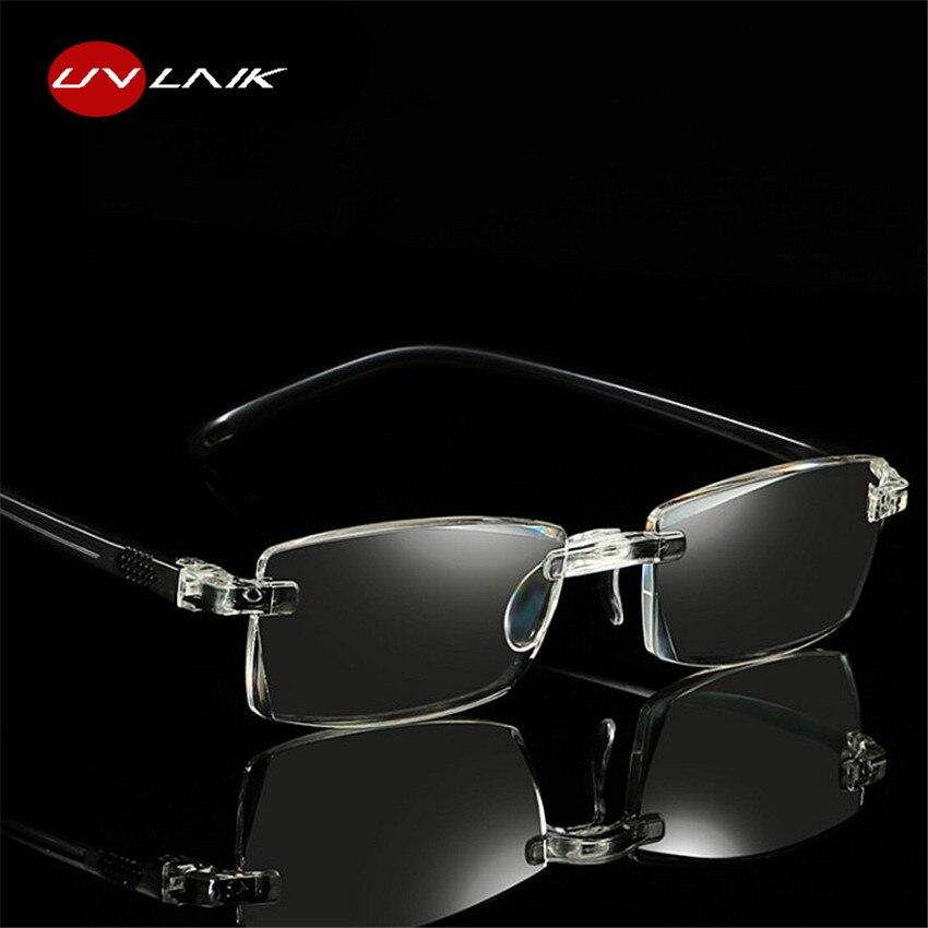dd73852ffd6 UVLAIK Reading Glasses Women Men Optical Rimless Glasses High Clear Pink  Readers Presbyopic Eye Glasses 1.0