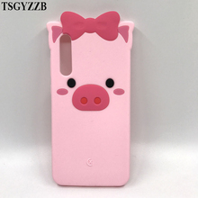 Cartton Cute 3D Pig Piglet Bow Beard Cat Ears Case For Huawei P20 PRO Soft Silicone Cover Plus Glitter Phone Back Shell