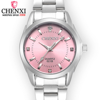 CHENXI Brand Women Quartz Watch Fashion Female Classic Rhinestone Clock Dial Ladies Stainless Steel WristWatch Girl