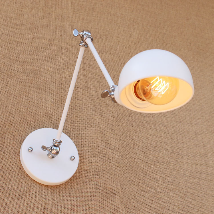 Vintage Iron American Wall Lamp Modern E27 White Wall Lights For Bedroom Hallway Sconce Retro Indoor Wall Lamp For ReadingVintage Iron American Wall Lamp Modern E27 White Wall Lights For Bedroom Hallway Sconce Retro Indoor Wall Lamp For Reading