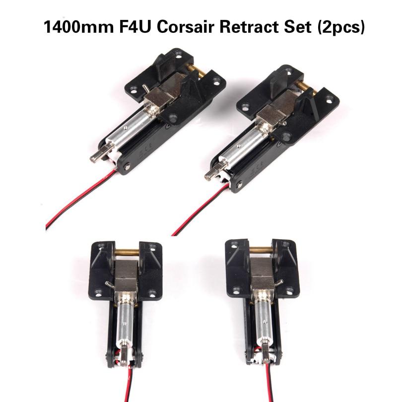 FMS 1400mm 1 4m F4U Corsair V3 Retract Set Metal Trunnions 90 Degree Rotating FMSRE004 RC