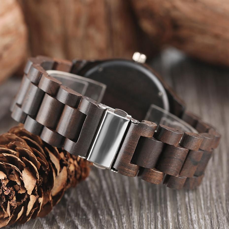 Creative Full Natural Wood Male Watches Handmade Bamboo Novel Fashion Men Women Wooden Bangle Quartz Wrist Watch Reloj de madera 2017 (43)