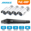 ANNKE 4 0 Megapixels POE Security Camera System 4CH 6 0MP NVR With 4x 4 0MP