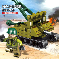 759pcs 16 in 1 Military Empires of Steel Tanks Building Blocks Compatible Legoingly Army WW2 soldier weapon brick children Toys