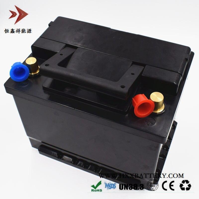 12.8 v 60AH LiFePo4 LFP Bateria de Fosfato De Ferro De Lítio BMS Bateria Longa Vida Portátil ABS Preto para Car Veículos ciclos de profundidade