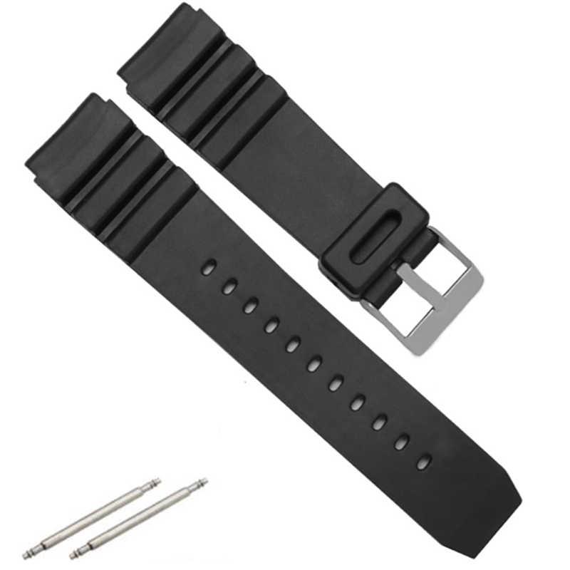 1 pcs רצועת השעון גומי סיליקון בנד גברים ספורט צלילה שחור רצועת עבור CASIO להחליף אלקטרוני שעוני יד חגורת שעון אבזרים