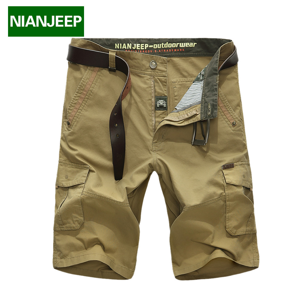 New 2017 Men s cool summer big size 29 42 army brand shorts 100 cotton men