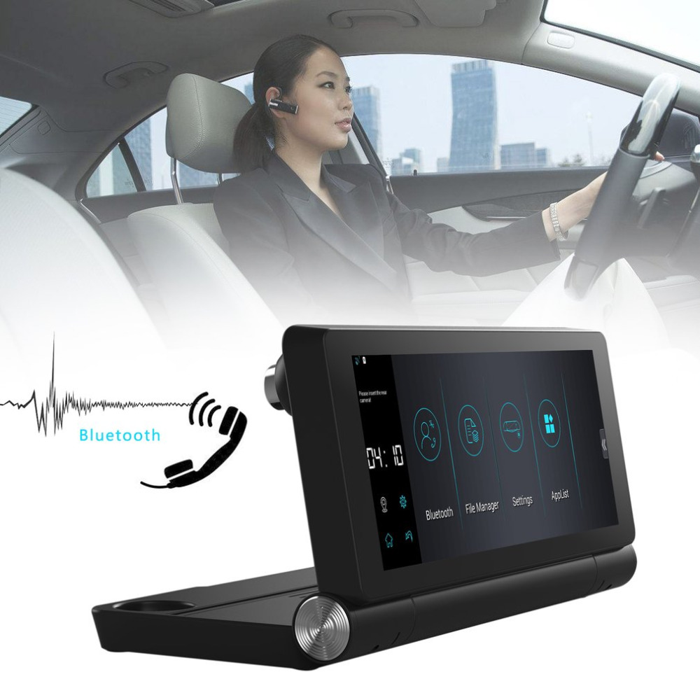 Car Dual Camera Rear View T18 WIFI 7″ HD 1080P DVR Recorder With GPS Navigator Built-in Mic And Speaker Support FM TF
