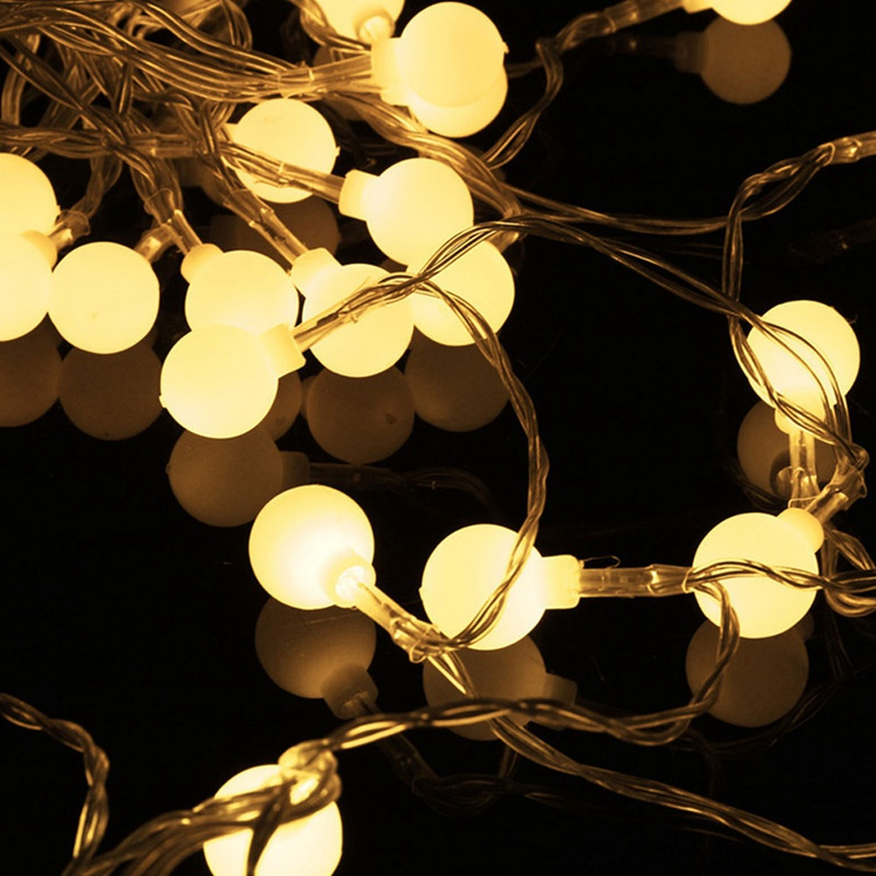 4M 40 Led Cherry Balls Fairy String Decorative Lights Battery Operated Wedding Christmas Outdoor Patio Garland Decoration
