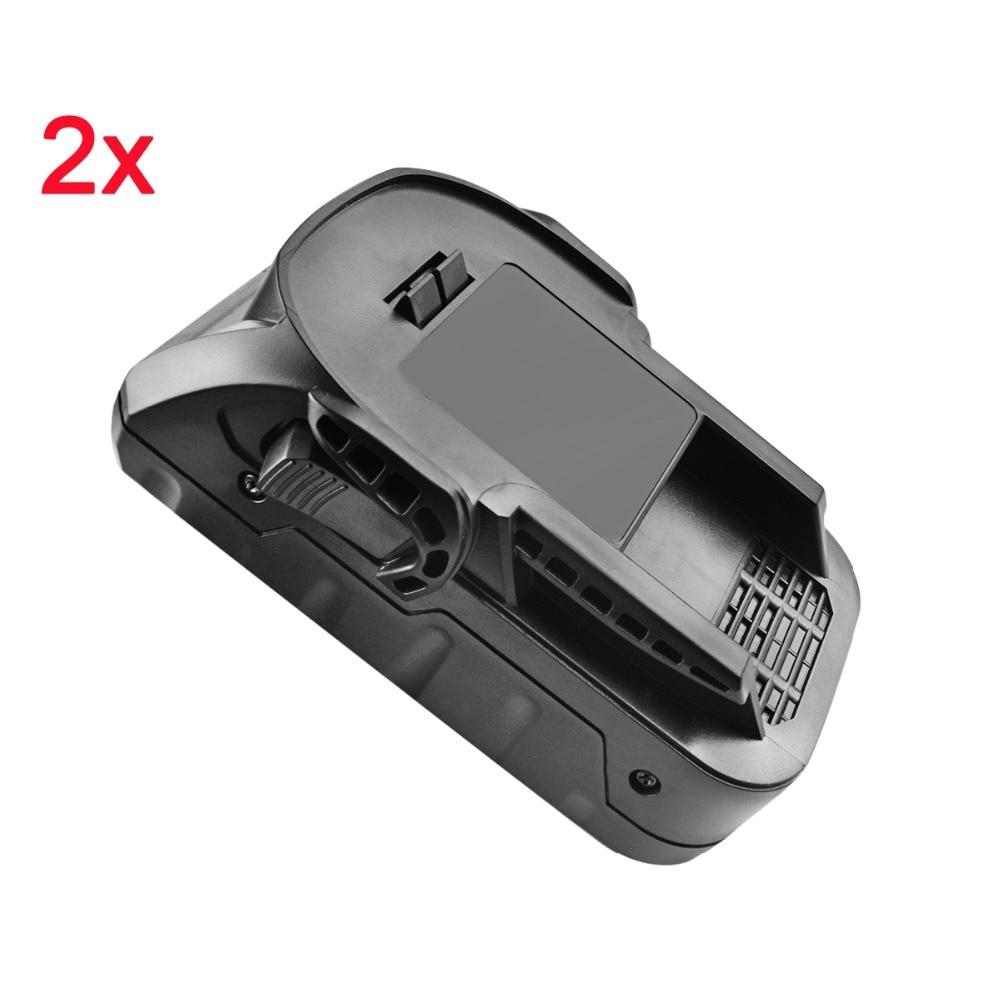 BATTOOL 2pcs 2000mAh 18V Hyper Rechargeable Li ion Battery for Ridgid R840085 R840084 R840083 R840087 Cordless Power Tool