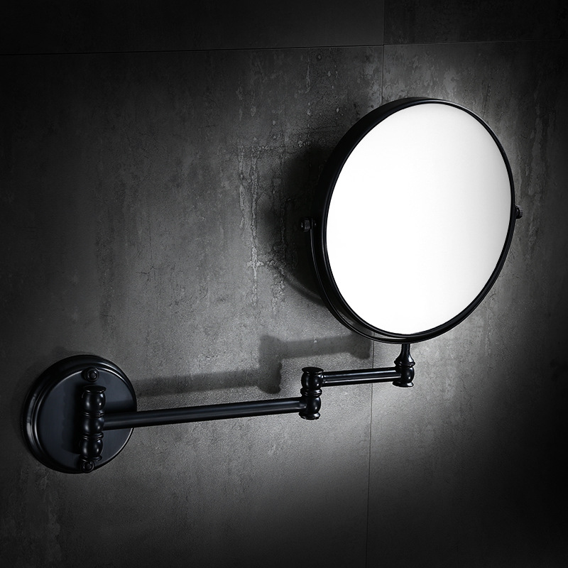 Antique Black Copper Bathroom Mirror Wall Mounted European Retro Bathroom Flip Telescopic 8 Inch Folding Bathroom Mirror 1 piece free shipping anodizing aluminium amplifiers black wall mounted distribution case 80x234x250mm