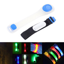 Flashing LED Safety Night Reflective Belt Strap Arm Band Armband Cycling Running Sports Safety Outdoor Sports Durable(China)