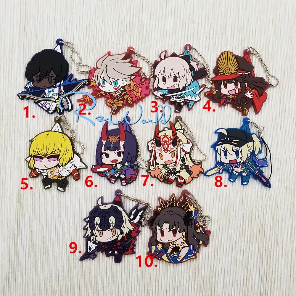 Fate/Grand Order Anime Arjuna Karuna Okita Souji Golden Shuten Ibaraki Doji X Alter Joan Of Arc Ishtar Rubber Strap Keychain