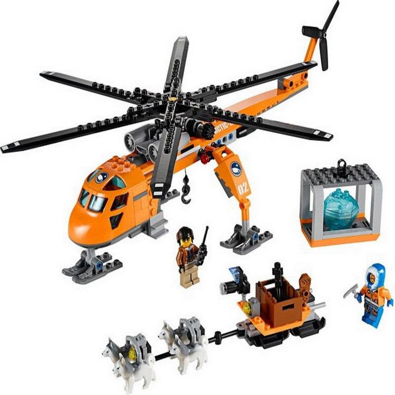 10439 BELA City Polar Adventure Arctic Helicrane Helicopter Model Building Blocks DIY Figure Toys For Children Compatible Legoe куртка iriedaily city arctic parka black 700 m
