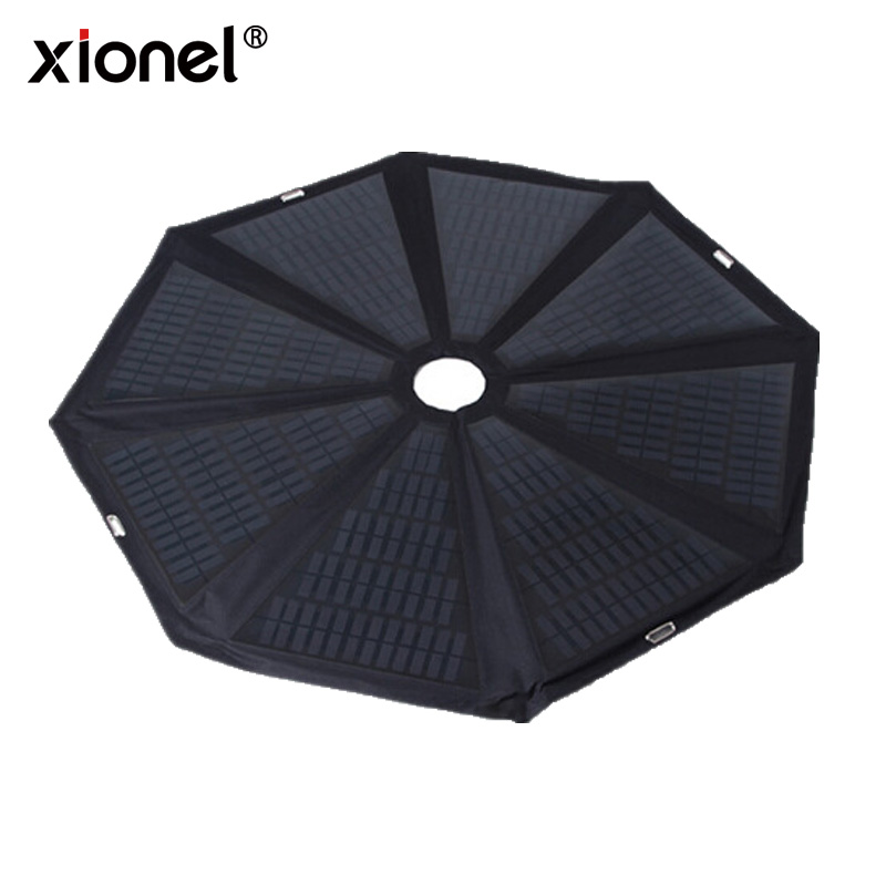 Xionel 2017 New product 50inch solar panel charger umbrella for beach patio umbrella, LED lighting beach solar charger umbrella xionel 120watt foldable cloth solar panels solar powered charger for laptop computer 12v rv caravan car boat battery