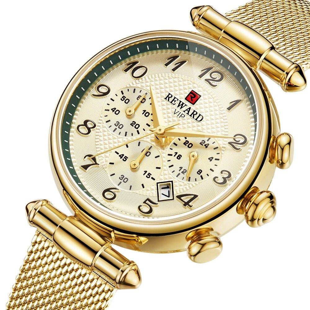 Woman's Watch Women Luxury Brand REWARD Fashion Female Watches Sport Women's Quartz Watches Japan Movement Date Ladies Clock