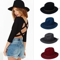 Fashion 100% Woolen Summer Winter Women's Men's Fedora hat Crushable Genuine Felt Sun Cap Trilby Gorra Toca Sombrero panama hat