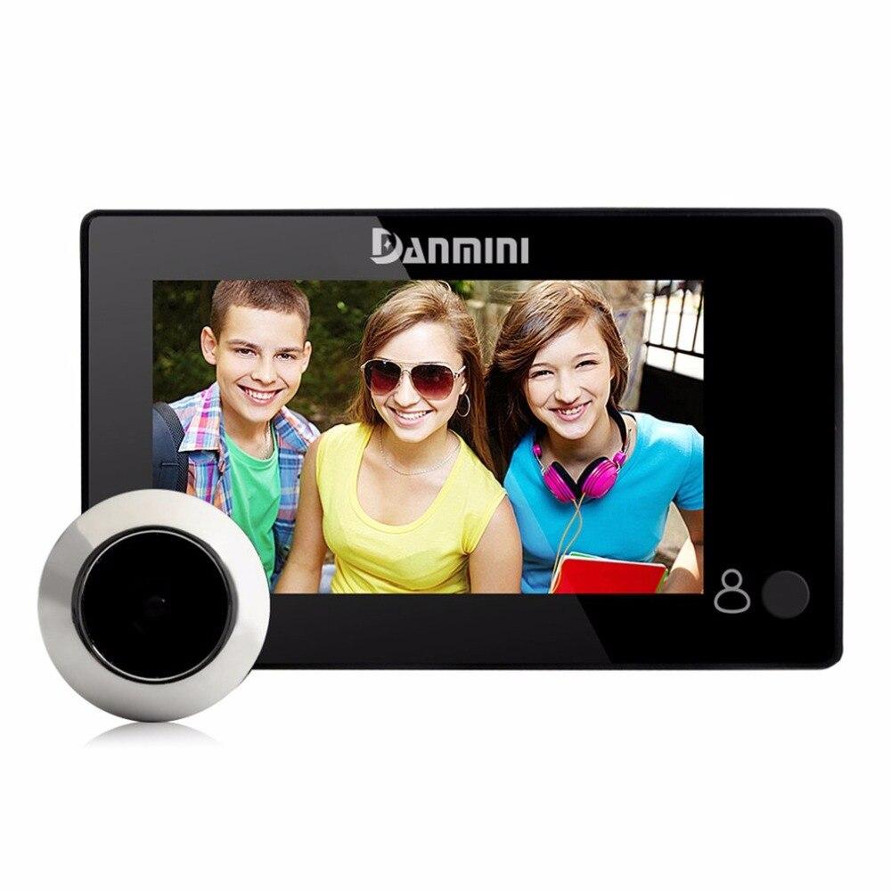 Danmini yb-43ch 4.3 дюймов Скрытая электронный кошачий глаз Ночное видение видео Камера Дверные звонки не беспокоить глазок