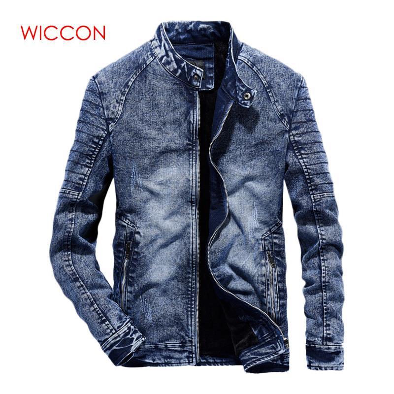 Nouveau Vintage Denim vestes hommes Slim Fit couleur unie décontracté hommes Jeans manteau 2019 mode Vintage vêtements pour hommes noir bleu