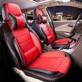 Cubierta de asiento de coche para volkswagen vw caddy cubierta de asiento de coche accesorios conjunto de LA PU de cuero fundas para asientos de coche asiento de coche cojines de respaldo