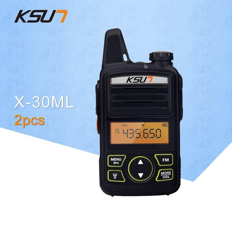 2 PCS) Portable Radio Ensemble KSUN X-30TFSI ML Talkie Walkie UHF De Poche Deux Way Ham Radio Communicateur HF Émetteur-Récepteur Amateur Pratique