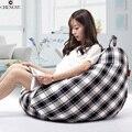 Preguiçoso Saco de Feijão Cadeira Para Sala de estar mobiliário conjunto de sofá sala Quarto Moda Lazer Lona De Isopor Beanbag Sofás