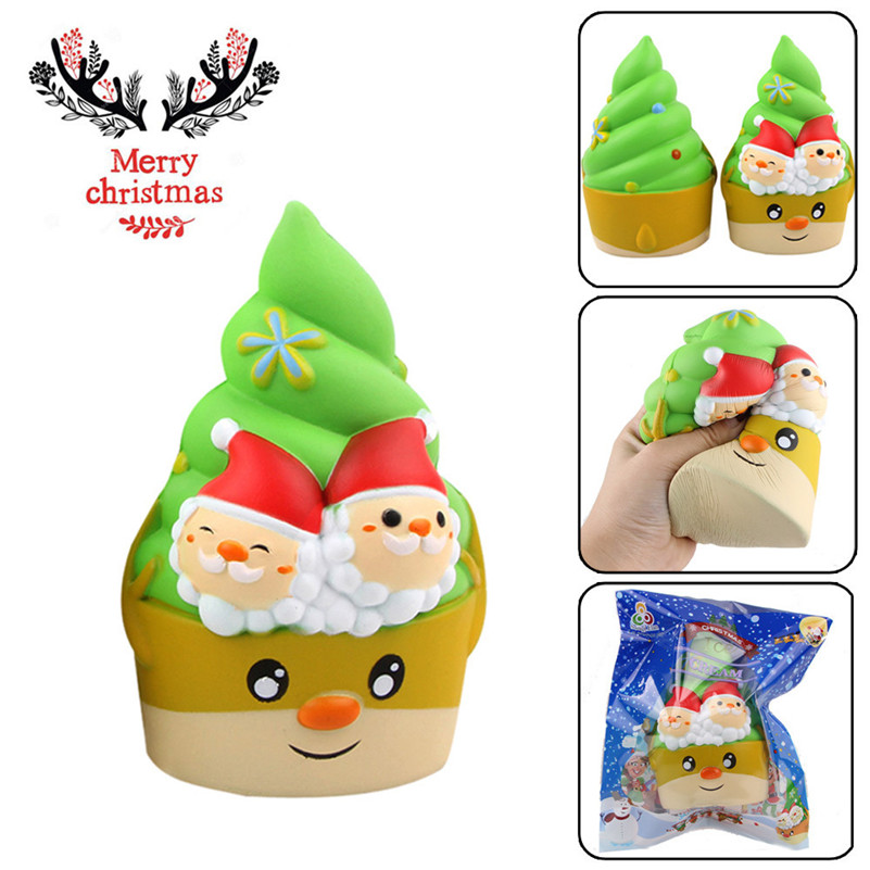 Christmas Colored Pony Stress Reliever Scented Super Slow Rising Squeeze Toy Anti-stress Oyuncak Stationery Items A1