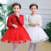 Formal Girl Flower Dress Wedding Party 10 Years Birthday Outfits Children Girls First Communion Dresses Kids