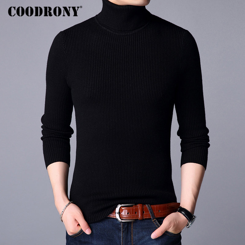 Image 2 - COODRONY Christmas Sweater Men Clothes 2019 Winter Thick Warm Mens Sweaters Casual Classic Turtleneck Cashmere Pullover Men 8253-in Pullovers from Men's Clothing