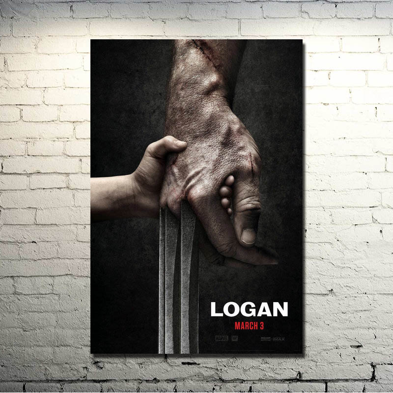2017 LOGAN Wolverine 3 X Men Movie HQ Seda Poster 13x20 24x36 pulgadas Imágenes para decoración de sala de estar Gran regalo