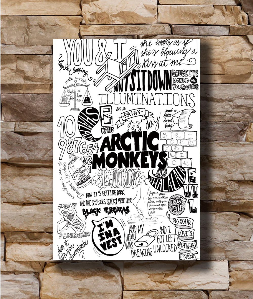 US $3.25 7% OFF|N0227 Quotes Custom Arctic Monkeys Rock 8x12 20x30 24x36  Silk Poster Art L W Canvas Print Decoration-in Painting & Calligraphy from  ...