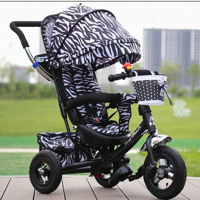 2017 New style good quality Baby rubber child tricycle trolley baby stroller baby carriage bike bicycle for 6 month--6 years old