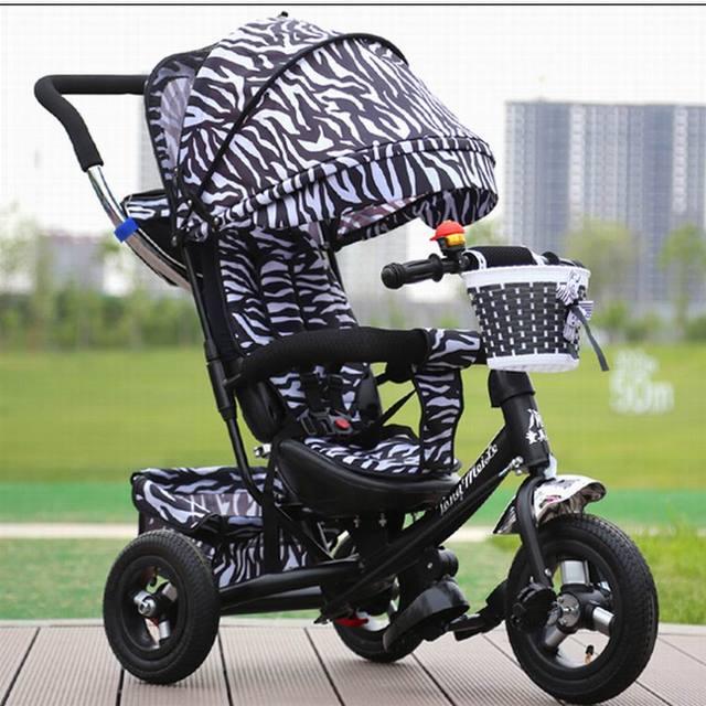 2017 Novo estilo de boa qualidade de borracha Do Bebê triciclo carrinho de criança carrinho de bebê carrinho de bebê bicicleta bicicleta para 6 mês 6 anos velho