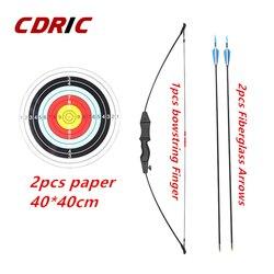 3 colores niños arco básico desmontaje tiro con arco práctica al aire libre juego de deportes de juguete niños arco conjunto