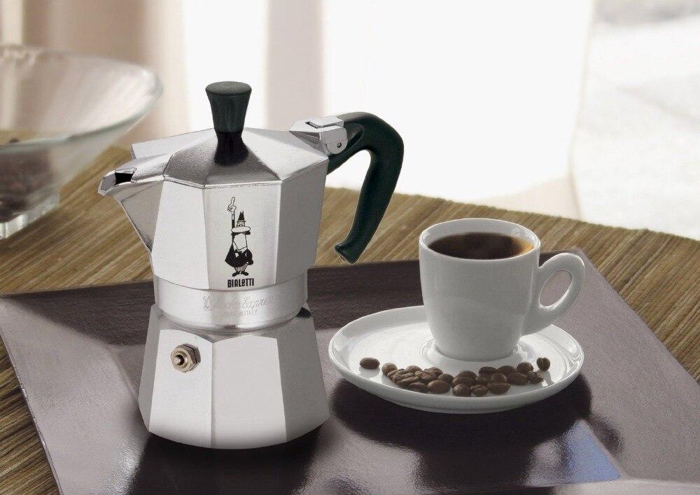 FeiC 1 قطعة bialetti براد لصنع الموكا 6 أكواب 300 مللي ماكينة الاسبريسو معدن الألمنيوم وعاء ل موقد ل باريستا-في أواني القهوة من المنزل والحديقة على  مجموعة 1