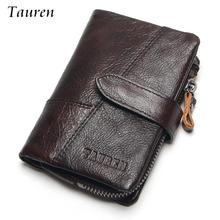 hot deal buy tauren patchwork oil wax cowhide genuine leather men wallets fashion purse with card holder vintage long wallet clutch wrist bag