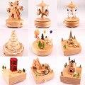 Caixa de música caixa de música de madeira casa criativa carrossel artesanato dia dos namorados presentes musicais caixa de jóias música presente 3