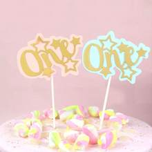 Birthday Cake Topper Decoration Double-layered Star Placard Party Dessert Insertion Party Dessert Table Supplies Decoration(China)