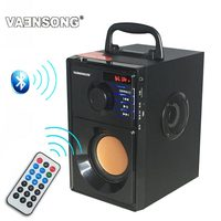 HiFi 2.1 Stereo Wooden Subwoofer Bluetooth Speaker FM Radio Portable Speakers Mp3 Play Super Bass Loudspeaker Computer Column
