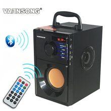 HiFi 2.1 Stereo drewniany Subwoofer głośnik Bluetooth Radio FM przenośne głośniki Mp3 Play Super Bass kolumna komputerowa