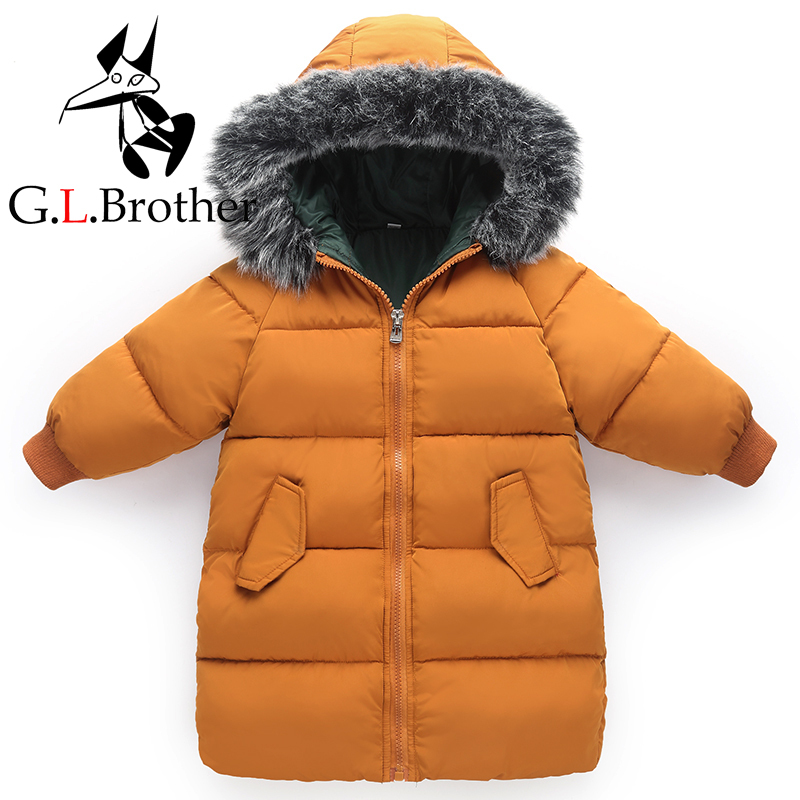 1-6 Years Kids Winter Coat Down Cotton Padded Thick Warm Toddler Boys Girls Down Jacket Hooded Long Children Outwear Parkas Z335 lumiparty 18000lm 7 xml t6 15000lm xml t6 led dive torch 200m underwater waterproof tactical led flashlights lantern lamp
