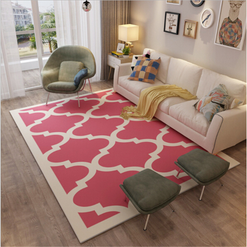 yazi Modern Grid Large Carpet Flannel Plush Soft Baby Kid Play Mat ...