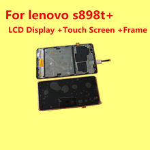 FOR Lenovo S898T+ LCD Display+Touch Screen+Frame+Tools 100% Original Digitizer Assembly Replacement Accessories For Phone S898t+