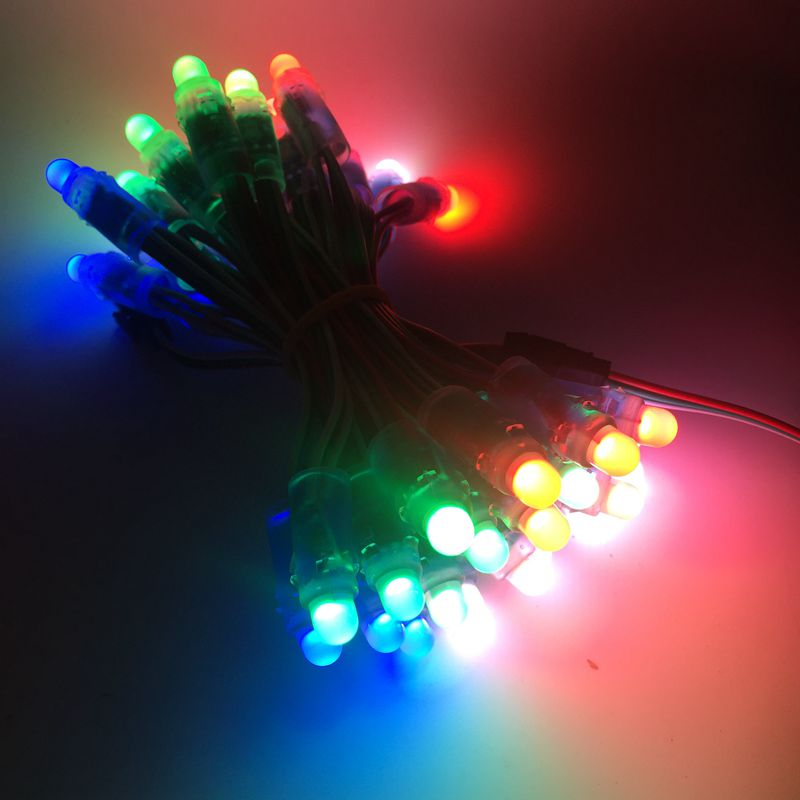 Image 4 - 1500pcs 12mm WS2811 Full Color LED Pixel Light Module DC 5V input IP68 waterproof RGB color 2811 IC Digital LED christmas LightLED Modules   -