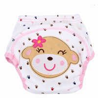 5Pc Baby Care Baby Diapers 3D Ear Animal Baby Training Pants Soft Cotton Children Cloth Diaper