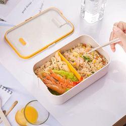 800ml popular retangular lancheira comida recipiente de plástico microondas forno aquecido bento caixa para fora viagem piquenique portátil caixa de alimentos