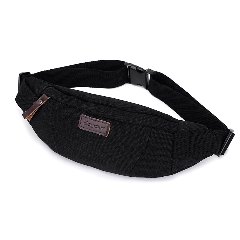 Waist Pack For Men Canvas Shoulder Bags Women Fanny Pack Bum Purse Hip Money Belt Travelling Mountaineering  Mobile Phone Bag
