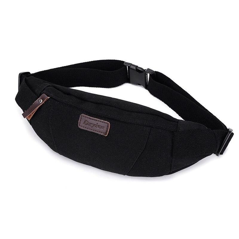 Waist Pack For Men Canvas Shoulder Bags Women Fanny Pack Bum Purse Hip Money Belt Travelling Mountaineering  Mobile Phone Bag